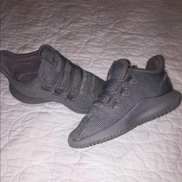buy popular d7445 11946 Grey Glitter Adidas Tubular Ortholite Shoes 7c